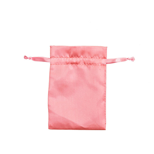"12 Pack | 4""x6"" Rose Quartz Satin Favor Bags Party Drawstring Pouches"