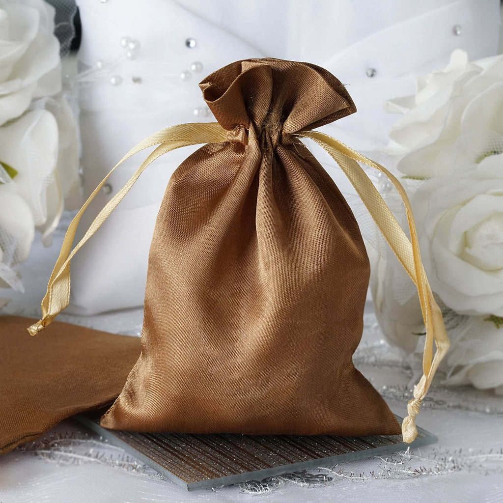 4X6 Antique Gold Satin Bags-dz/pk