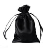 "12 Pack 4x6"" Black Satin Drawstring Party Favor Gift Pouch Candy Bags For Wedding Birthday Baby Shower"