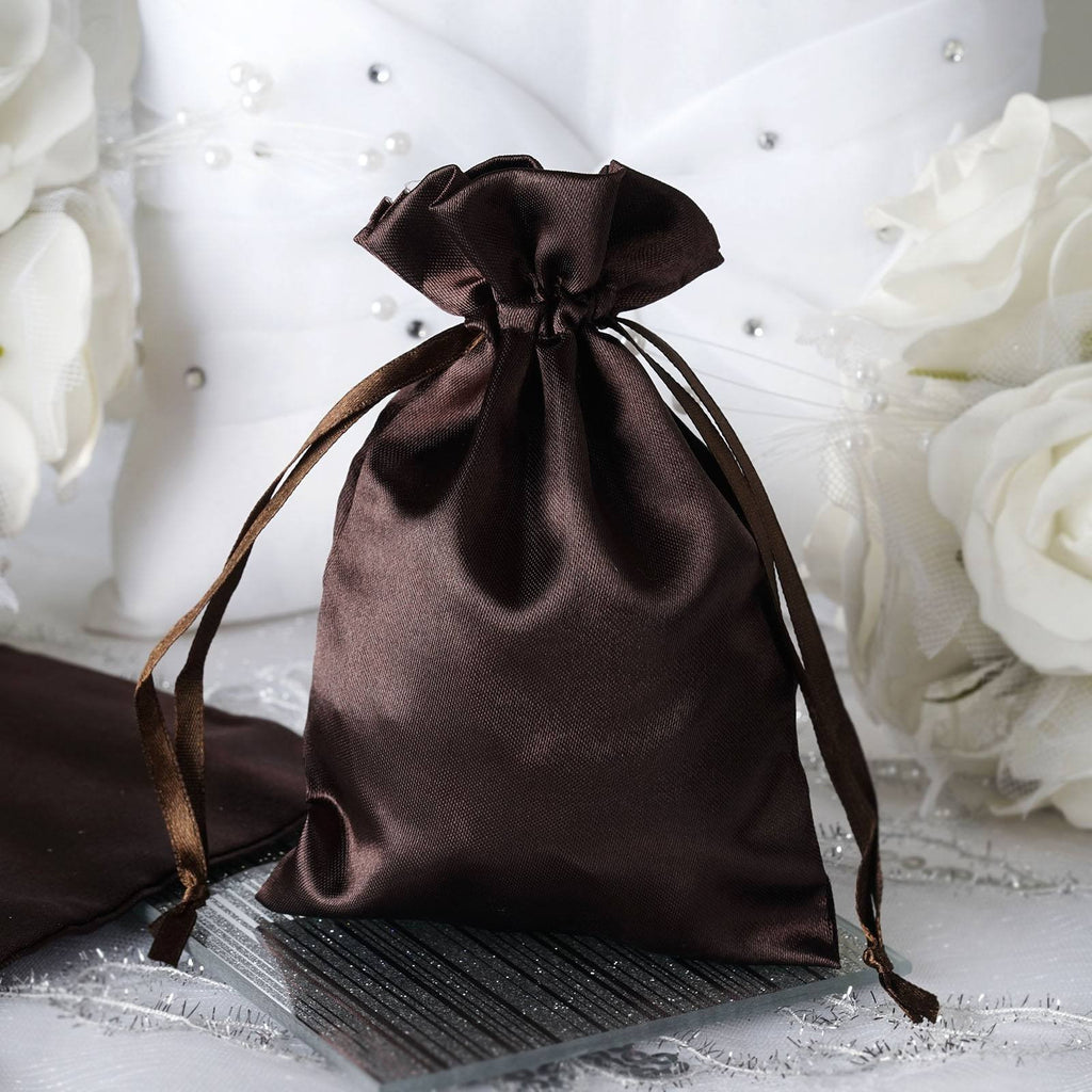 4X6 Chocolate Satin Bags-dz/pk
