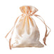 "4x6"" Satin Drawstring Bags - Peach - 12 Pack"