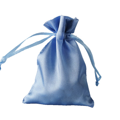 "4x6"" Satin Drawstring Bags - Serenity Blue - 12 Pack"