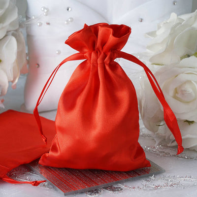 "4 x 6"" Red Satin Bags"