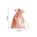 "Pack of 12 - 5""x7"" Dusty Rose Satin Favor Bags Party Drawstring Pouches"