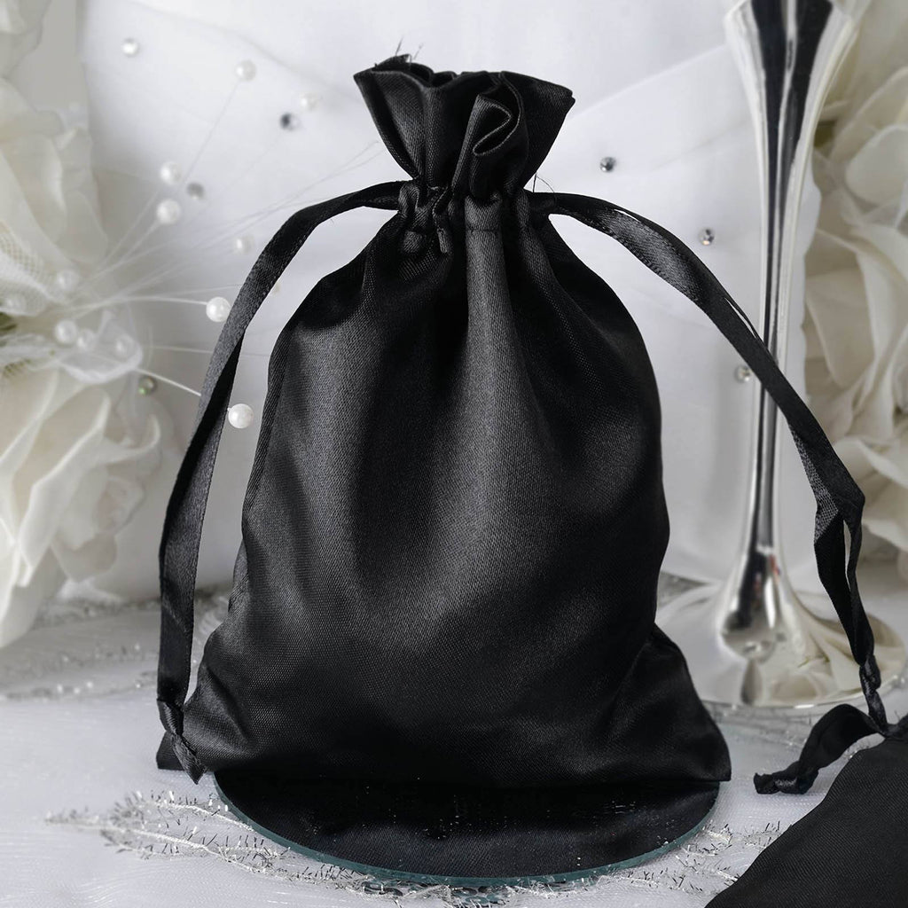 5x7 Black Satin Bags-dz/pk