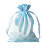 "5x7"" Satin Drawstring Bags - Baby Blue - 12 Pack"