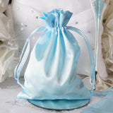 "5 x 7"" Baby Blue Satin Bags"