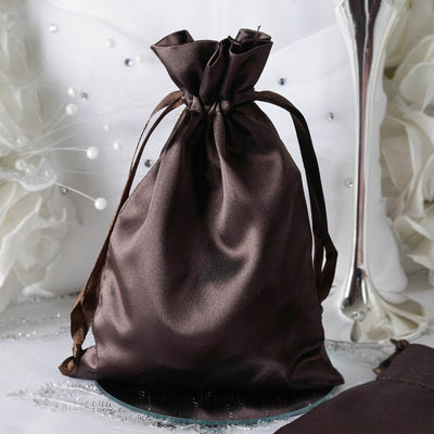 "5 x 7"" Chocolate Satin Bags"