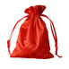 "5x7"" Satin Drawstring Bags - Red - 12 Pack"