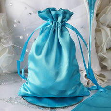 "5 x 7"" Turquoise Satin Bags"