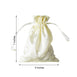 "12 Pack | 5""x7"" Yellow Satin Favor Bags Party Drawstring Pouches"