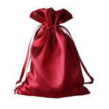 "6x9"" Satin Drawstring Bags - Burgundy - 12 Pack"
