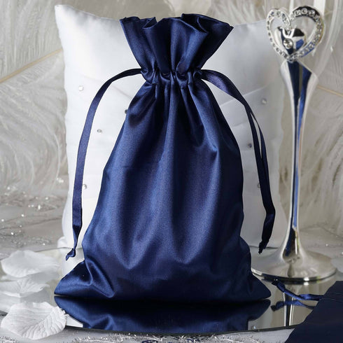 "6 x 9"" Navy Blue Satin Bags"