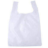 Eco Freindly Nylon Reusable Foldable Grocery Shopping Bag With Gift Pouch - White