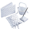 4 Piece Royal Treatment Rhinestone Set - White