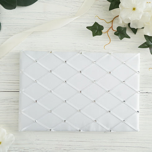 White Royal Treatment Rhinestone Guest Book