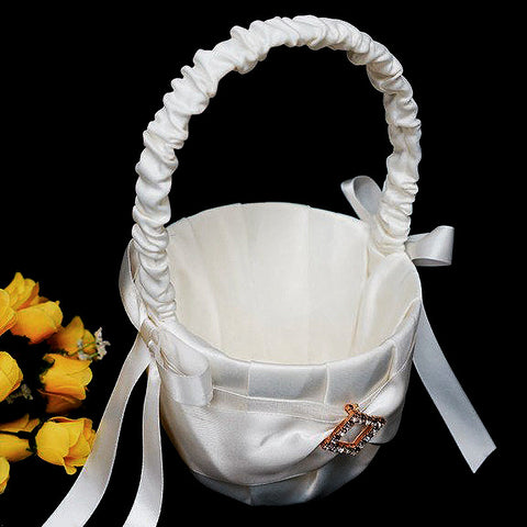Diamond Buckle Girl Basket - White( Sold Out )