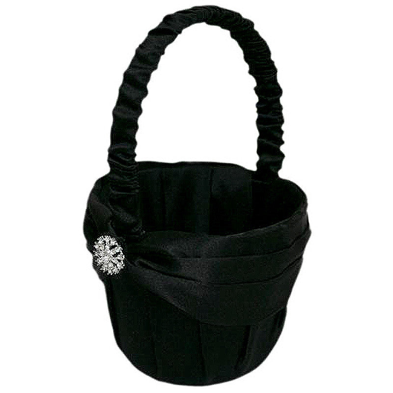 Rhinestone Buttons Girl Basket - Black( Sold Out )
