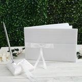 Bow Ribbon Book & Pen Set - White
