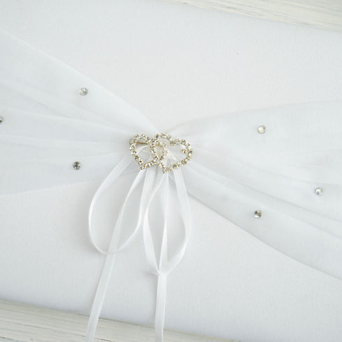 4 Pc White Deluxe Double Hearts Set