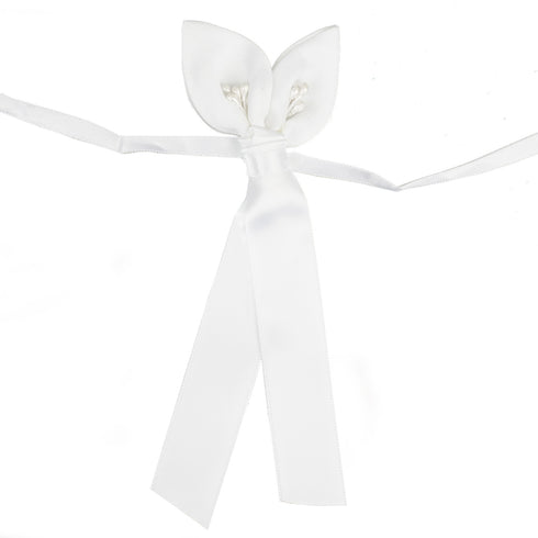 4 Pcs Calla Lily White Bands For Votive Candle
