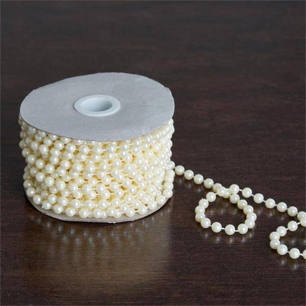 12 Yards | 6mm Ivory Pearl String Beads