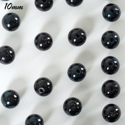 1000 Pack 10mm Black Faux Pearl Beads Vase Fillers