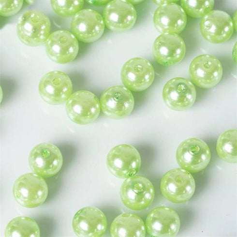 1000 Pack 10mm Tea Green Faux Pearl Beads Vase Fillers