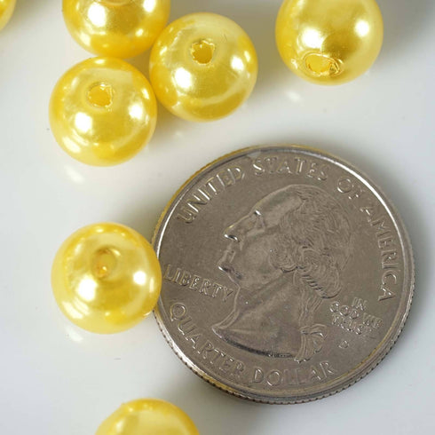 1000/pk BLOCKBUSTER Pearls - 10mm Yellow