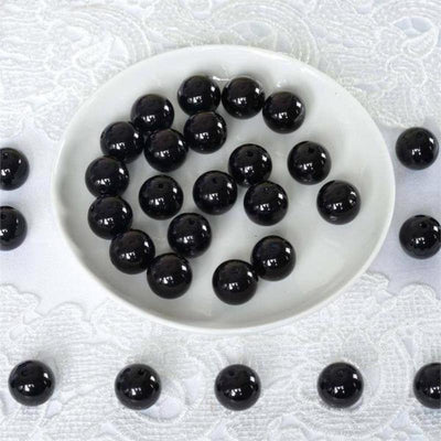 120 Pack 20mm Black Faux Pearl Beads Vase Fillers