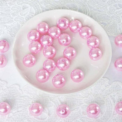 120 Pack 20mm Pink Faux Pearl Beads Vase Fillers
