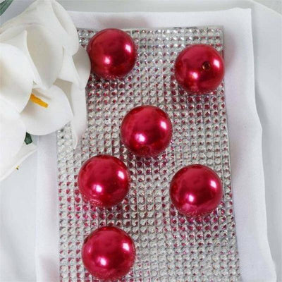 35 Pack 30mm Red Faux Pearl Beads Vase Fillers Efavormart