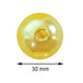 30mm | 35 Pack Yellow Faux Pearl Beads Vase Fillers