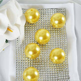 35 Pack 30mm Yellow Faux Pearl Beads Vase Fillers