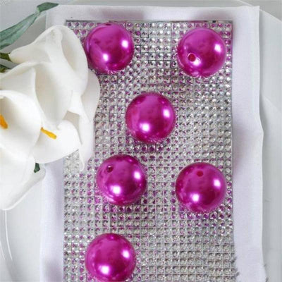 35 Pack 30mm Fuchsia Faux Pearl Beads Vase Fillers