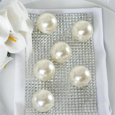 35 Pack 30mm Ivory Faux Pearl Beads Vase Fillers