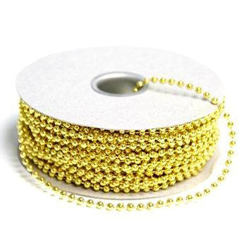 3mm String Beads-Gold-24yds