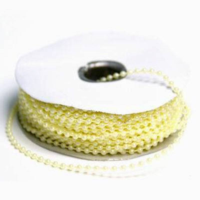 24 Yards 3mm Ivory Faux Pearl Beads