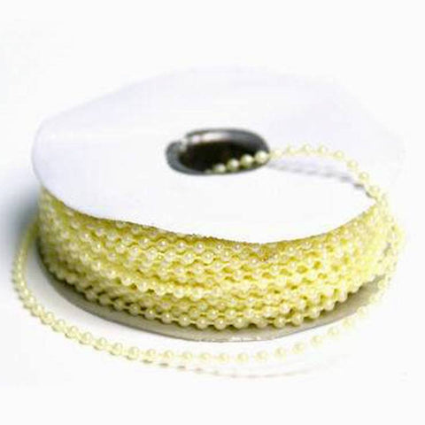 3mm String Beads-Ivory-24yds