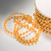 24 Yards 3mm Peach Faux Pearl Beads