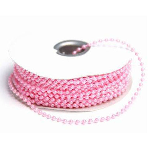 3mm String Beads-Pink-24yds