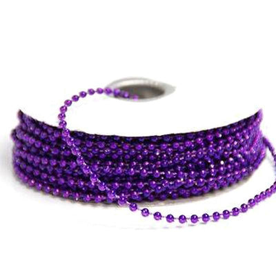 24 Yards 3mm Purple Faux Pearl Beads