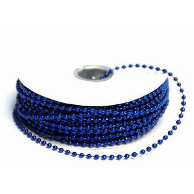 24 Yards 3mm Royal Blue Faux Pearl Beads
