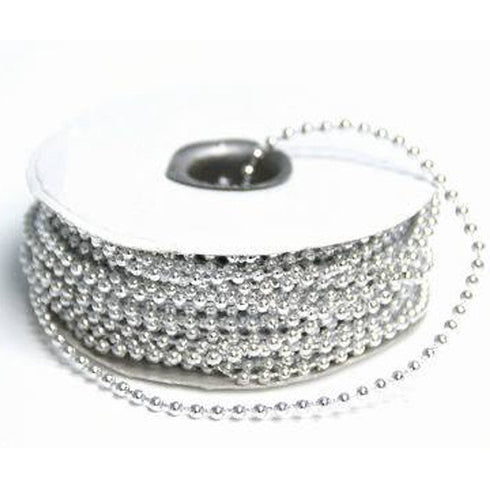 24 Yards 3mm Silver Faux Pearl Beads