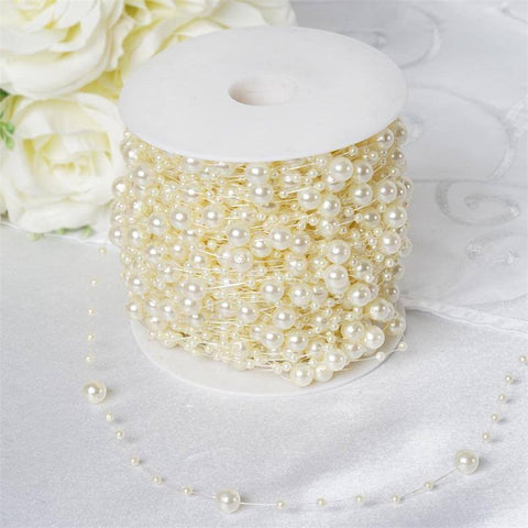 28ft Extravagant Pearl Explosion Garland - Ivory