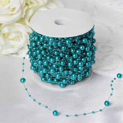 28ft Extravagant Pearl Explosion Garland - Turquoise