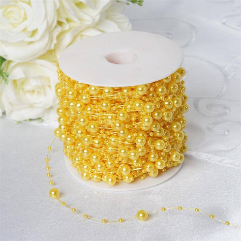28ft Extravagant Pearl Explosion Garland - Yellow