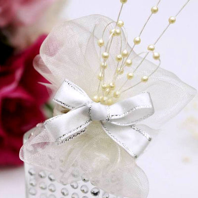 144pcs Ivory Pearl Beads Wire Stems