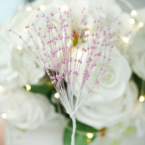 Pearl and Tulle Spray on Wire x 12 stems bridal wedding bouquet buttonholes