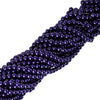 10 Pack of 8mm Large Purple Faux Pearl Beads